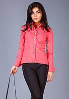 Женская рубашка кораллового цвета, фото 1
