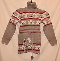 """Детский вязаный свитер """"Цветочек"""""""