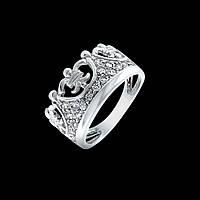 Серебряное кольцо Корона с цирконами