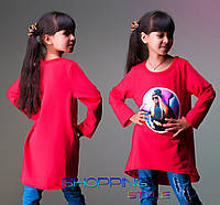 Детская кофточка для девочки Красная с картинкой