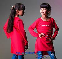Детская кофточка для девочки Прорези красная