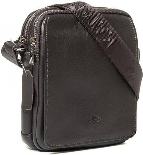 Прекрасная мужская кожаная сумка через плечо Katana k89104-2 коричневый