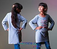 Детская кофточка для девочки Прорези серая