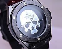 Наручные часы Hublot Skull Bang с черепом Black