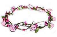 Модный веночек на голову Розовые розы