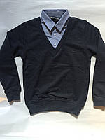 Кофта-рубашка обманка 10-14 лет