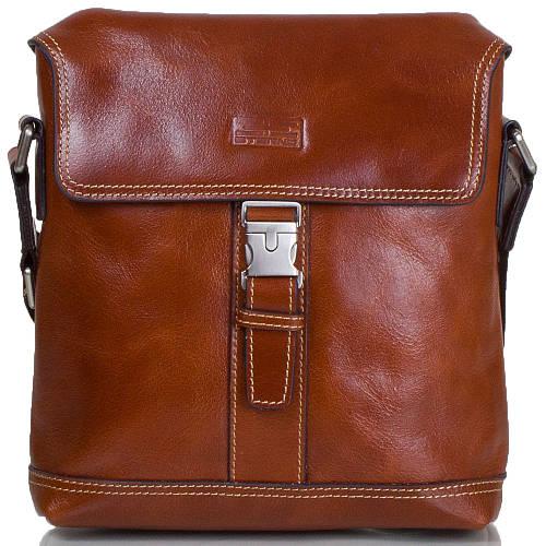 Оригинальная мужская сумка-почтальонка из натуральной кожи ETERNO (ЭТЭРНО) ET8902 коричневый