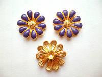 Серединка цветочек фиолетовый 18 мм