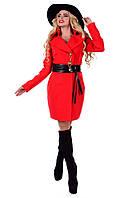 Пальто кашемировое Магия красного цвета