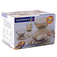 Ocean Eclipse Сервиз столовый 30+1 предмет ударопрочное стекло Luminarc