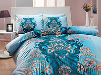 Комплект постельного белья 200х220 HOBBY Ranforce Almeda голубой
