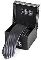Классический мужской шелковый галстук ETERNO (ЭТЕРНО) ETEG668 серый