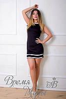 Платье чёрное с белым кружевом