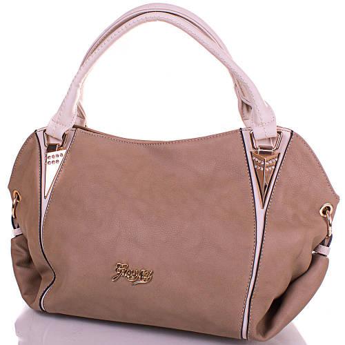 Потрясающая женская сумка из качественного кожезаменителя GUSSACI (ГУССАЧИ) TUGUS13E044-4-12 (серый)