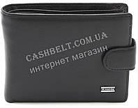 Мужское кожаное прочное стильное портмоне бумажник H.Verde art. 8257N черного цвета
