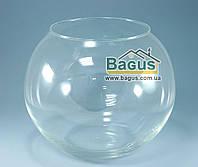 Ваза шар аквариум (высота 19,5см, диаметр 23см, объем 7,7л) (Х001г)
