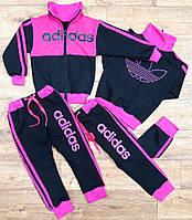 Детский  костюм Адидас для девочки,фиолет
