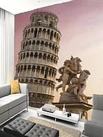 """Фото обои """"Статуи и башня"""", Фактурная текстура (холст, иней, декоративная штукатурка)"""