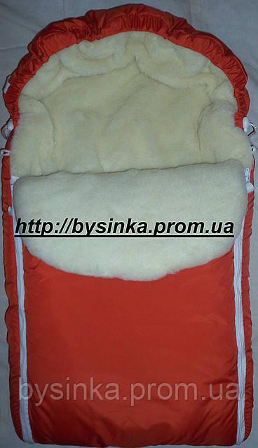 Зимний конверт в коляску кораблик
