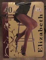 """Колготы капроновые """"Elizabeth"""" 40 den. Черные. Размер 4"""