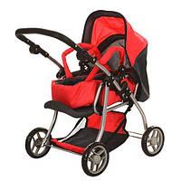 Детская коляска для куклы 9672 Мелого Melogo красная