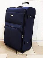 Чемодан текстильный на колесах SANJERLY 7008 синий большой
