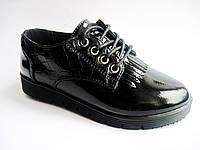 Детские / подростковые лаковые туфли на платформе для девочки, р. 30-37