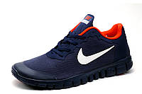 Кроссовки Nike Free 3.0, мужские, темно-синие с белым, р. 41 43 45, фото 1