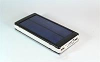 Портативное зарядное устройство Power Bank Solar 15000mAh на солнечной батарее,  светодиодный фонарь