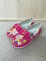 Яркие балетки для девочек малиновые цветы р. 26-31