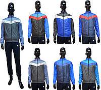 Мужская ветровка Adidas 1495-35 серо-голубого цвета