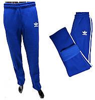 Мужские спортивные штаны Adidas теплые 180=350 голубой цвет