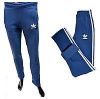 Мужские спортивные штаны Adidas теплые 180=350 джинс цвет