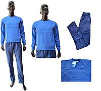 Мужской костюм Adidas 1310-10 ластик сине-голубого цвет