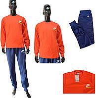 Мужской костюм Adidas гольф 0210 оранжево-синий