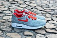 Кроссовки мужские  Nike Air Max 1 Ultra Grey Red оригинал