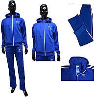Мужской костюм Adidas ТЕПЛЫЙ 129=1 голубой цвет