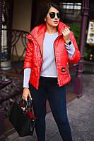 Женская весенняя курточка на кнопках и рукавом 3/4 больших размеров