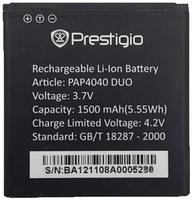 Батарея (акб, аккумулятор) для Prestigio MultiPhone 4040 Duo (1500 mAh) оригинальный