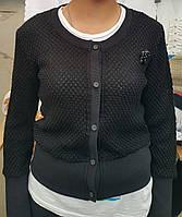 Турецкая кофта на девочек Чёрная брошь