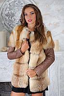 """Куртка и жилет из меха лисы """"Клер"""""""