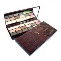 Палитра теней Chocolate (16 оттенков + база под тени)