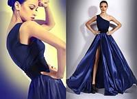 Длинное платье в пол на одно плечо