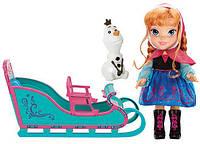Кукла Анна и сани Дисней Холодное сердце, Disney Frozen Anna and Sleigh