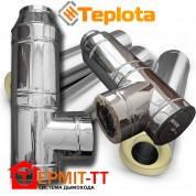 Комплект дымохода Termit 25 кВт, 7 метров, диаметр вн. 160 мм, нержавейка 0,8 мм в нержавеющем кожухе