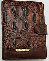 Очень качественный мужской кошелек FANE. Натуральная кожа. Фактура кожи под крокодила. Купить. Код: КДН586