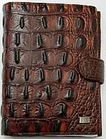 Практичный мужской кошелек FANE. Стильный дизайн под крокодила. Хорошее качество. Интернет магазин Код: КДН587
