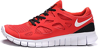 Женские кроссовки Nike Free Run Plus 2 (найк фри ран) красные