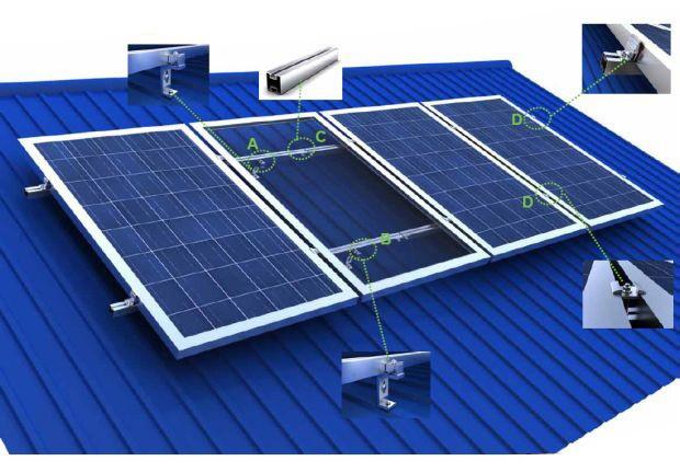 Крепление для солнечных батарей