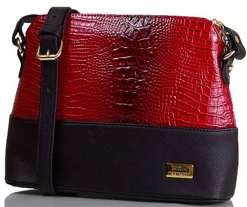Лаковая женская мини-сумка под крокодила, искусственная кожа ETERNO ETMS35286-1 красный